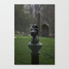 Hitching Post in the Rain Canvas Print