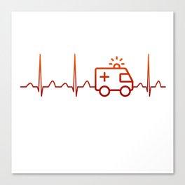 EMT Heartbeat Canvas Print