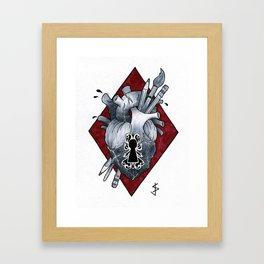 LockHeart Framed Art Print