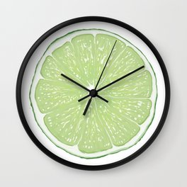 Slice of Lime Wall Clock
