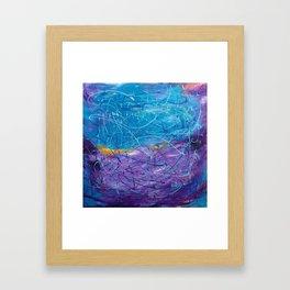 Purple/Blue Abstract Framed Art Print