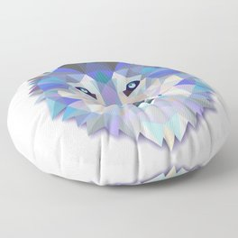 Colorful Wolf Floor Pillow