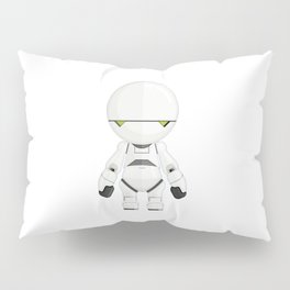 Marvin The Paranoid Android Minimal Sticker Pillow Sham
