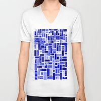 doors V-neck T-shirts featuring Doors - Blues by Finlay McNevin