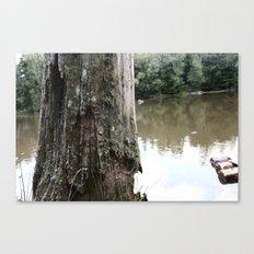 Old Tree at Lake Canvas Print