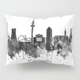 Duisburg Germany Skyline BW Pillow Sham