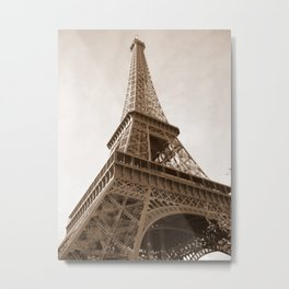 Sepia Eiffel Tower Metal Print