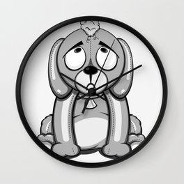 Critter Alliance - Poor Puppy Wall Clock