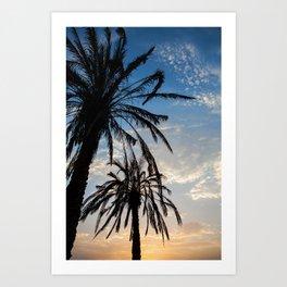 Sunsets Palms II Art Print