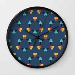 Kaleidescope blue Wall Clock
