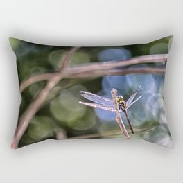 Dragon Fly in Forest Rectangular Pillow