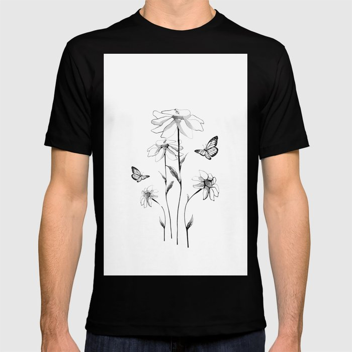 Flowers and butterflies 2 T-shirt
