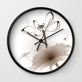 Oriental Lotus 003 Wall Clock