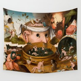Hieronymus Bosch - The Visions of Tondal, Tondal's Vision, 1479 Wall Tapestry
