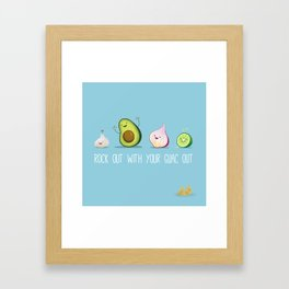 Rock Out With Your Guac Out Framed Art Print