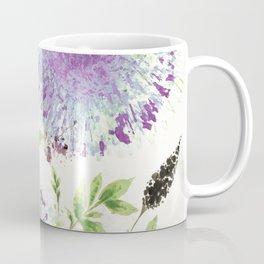 Dandelions Aquamarine Mauve Coffee Mug