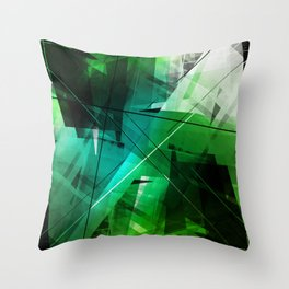 Jungle - Geometric Abstract Art Throw Pillow