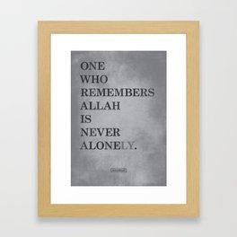 One Who Remembers Allah Framed Art Print