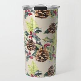 Repeating Pinecone Pattern Travel Mug