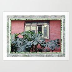 KATHMANDU WALL AND WINDOW Art Print