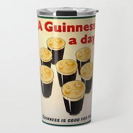 Vintage Guinness Advert Art Travel Mug