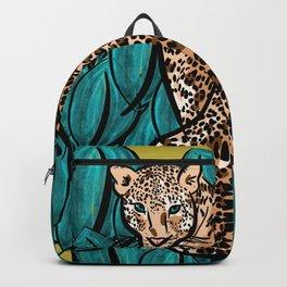 Jungle Cat | Leaves Backpack