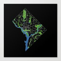 dc Canvas Prints featuring DC by rachitect
