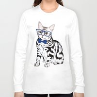 kitty Long Sleeve T-shirts featuring Kitty by 13 Styx