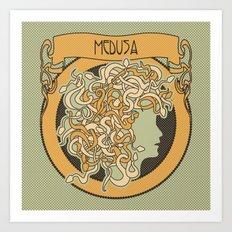 medusa silhouette (light) Art Print