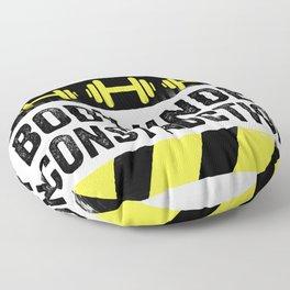 Body Under Construction Floor Pillow