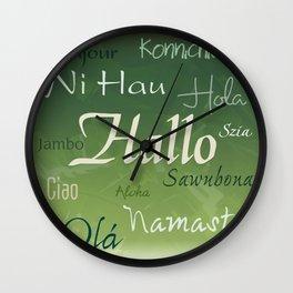 Hallo Wall Clock