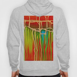 Distant Trees in Orange and Lime Hoody