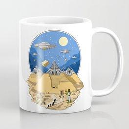 Alien Egyptian Pyramids Coffee Mug