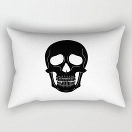 Skull (Black) Rectangular Pillow