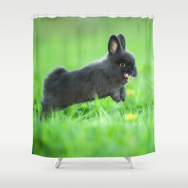 Killer Bunny Shower Curtain
