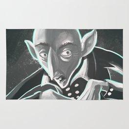 creepy spooky nosferatu Rug