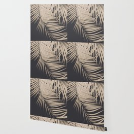 Palm Leaves Sepia Vibes #1 #tropical #decor #art #society6 Wallpaper