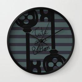 Cute as a button Wall Clock