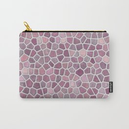 Pink Mosaic Pattern - lighter Carry-All Pouch