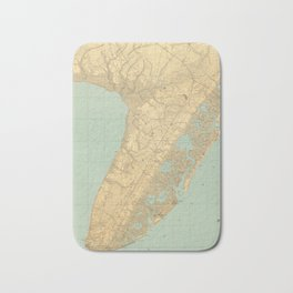 Vintage Map of Cape May NJ (1888) Bath Mat