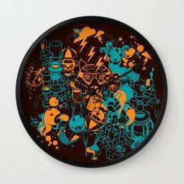 Dream Factory Orange and Blue Wall Clock
