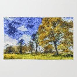 Summer Farm Van Gogh Rug