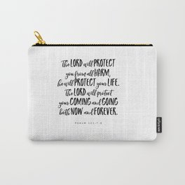 Psalm 121:7-8 - Bible Verse Carry-All Pouch