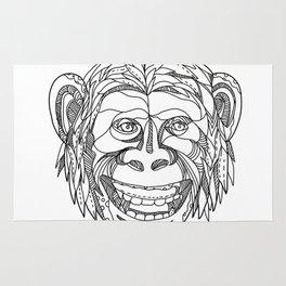 Humanzee Smiling Doodle Rug