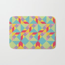 Colorful Tangram Pattern Bath Mat