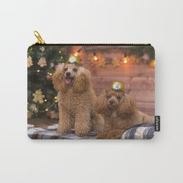Brown poodles New Year Christmas curly dogs poodles cute animals dogs Carry-All Pouch
