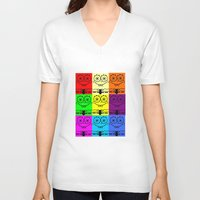 spongebob V-neck T-shirts featuring Spongebob by chauloom