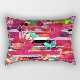 Floral Stripe Rectangular Pillow
