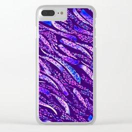 Brushed Zebra NET Clear iPhone Case