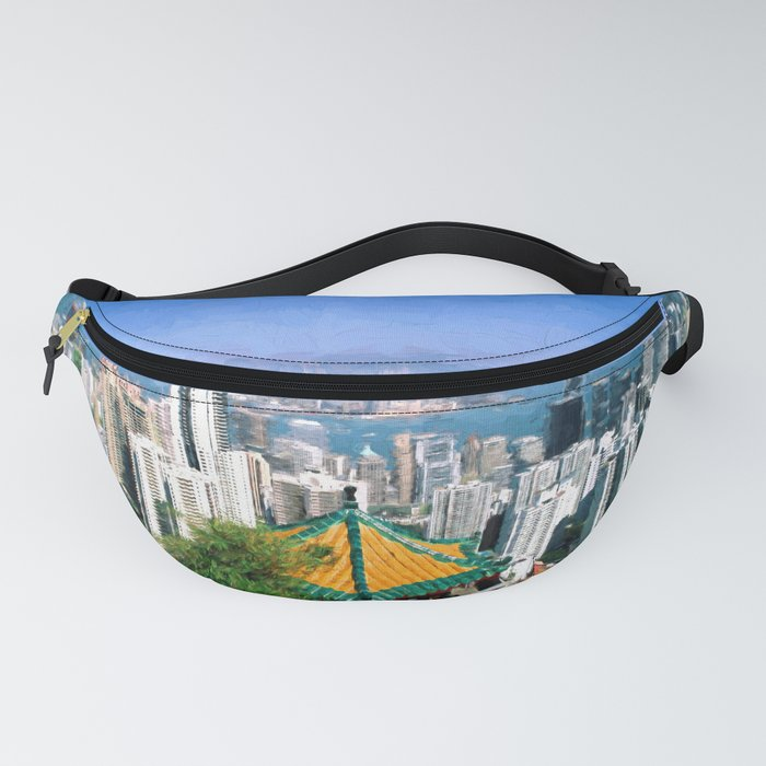 View on Victoria Harbour Hong Kong Fanny Pack